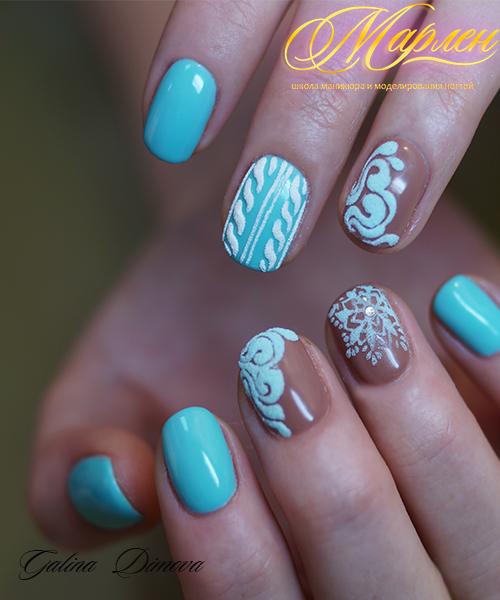 Дизайны ногтей гель лаками со стразами