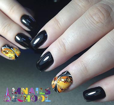 бабочка стразы