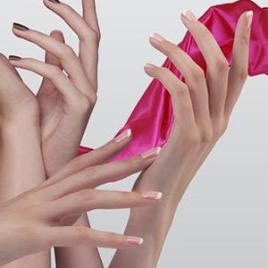 Прозрачно-розовые акрилы
