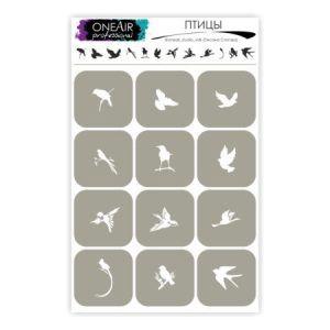 Трафареты-для-аэрографии-на-ногтях-OneAir-Птицы-450x450